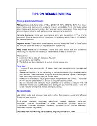 Words To Avoid On Resume Words To Avoid In A Resumes Ninjaturtletechrepairsco 5