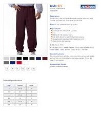 Jerzees 973 8 Oz Nublend50 50 Sweatpants