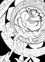 Adult Beauty And The Beast Coloring Pages Beauty And The Beast