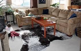 brindle cowhide rug in living room styles
