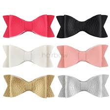 details about 3 6pcs girls leather hair bows hairpin hair clips baby kids hair accessories