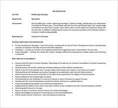 Senior Programmer Job Description Enchanting Mobile Developer Job Description Trisamoorddinerco