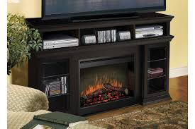 Large Black Tv Stand Furniture Alluring Black Tv Stand With Fireplace For Different