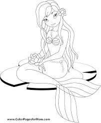 Mermaid Coloring Pages Free Printable F7605 Mermaid Coloring Lovely