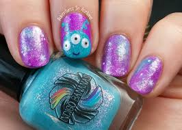 Cutesy Alien and Galaxy Nail Art! - Adventures In Acetone
