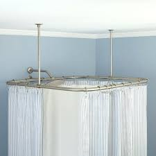 square shower rod shower rod ceiling support design house curved shower rod square shower curtain rod