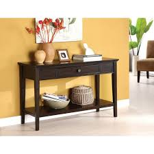 dark wood hall table. This Karlyn Sofa/console Table Features A Rich Dark Cherry Finish, With Magnificent Look Wood Hall