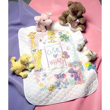 Dimensions® Stamped Cross Stitch Kit, Cute or What? Baby Quilt &  Adamdwight.com