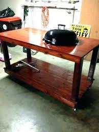 weber kettle side table