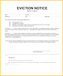 Free Eviction Notice Template Sample Eviction Notice Form Rental Eviction Letter Sample Rtment Notice Template Tenant