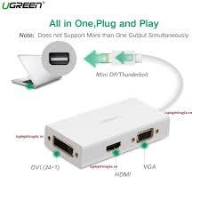 Cáp chuyển Mini Displayport to VGA + HDMI + DVI hỗ trợ 4k2k Ugreen 20417,  Giá tháng 10/2020