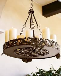 decorative rustic outdoor chandelier
