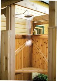 dreaming of summer diy outdoor shower homeyou wooden pan base for a mat stalls