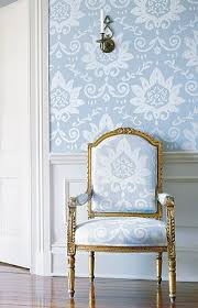 french chair upholstery ideas. thibaut matching wallpaper and upholstery on a gilded french chair ideas o