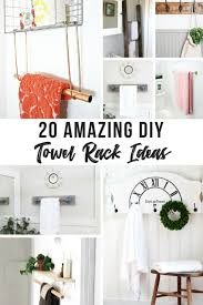 towel hanger ideas. Collage Of Different DIY Towel Rack Ideas Hanger K
