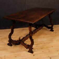 dutch coffee table in oak with marble top