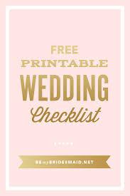 Printable Wedding Planner Free Wedding Planning Printables Checklists In 2019