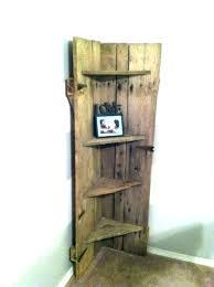 corner shelf with door corner shelf with door wooden shelves doors barn into a dark wood corner shelf with door