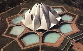 Bahai Lotus Temple: The Lotus temple in India...BAHA'I HOUSE