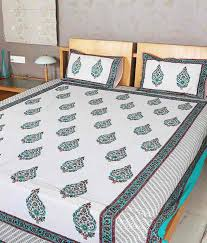 bed sheet designing rajrang indian designer hand block printed double bed bedsheet