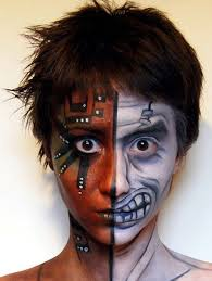 half face face painting