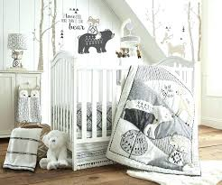 baby bear crib bedding sets beige crib bedding set baby bailey charcoal and white woodland themed