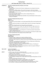 Interior Design Resume Sample And Complete Guide 20 Examples Student