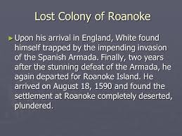 「On August 18, 1590, all inhabitants of the Roanoke Island colony,」の画像検索結果