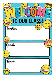 Welcome Chart Images Emoji Welcome Chart Smart Chart Top Notch Teacher Products