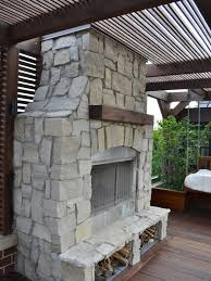 outdoor stacked stone fireplace home interiror and exteriro design designs natural diy outdoor stone fireplace
