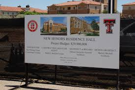 incoming freshmen admissions honors college ttu residence hall construction