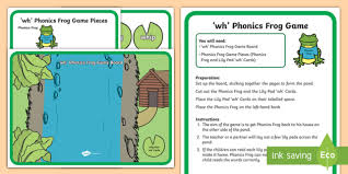 Help children learn how the similar sounds w and wh sound alike with this fun educational video series! Wh Sound Phonics Frog Game Teacher Made