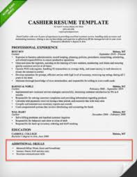 Cashier Skills To Put On A Resume Cashier Resume Skills Section Example X How To Put Skills On A