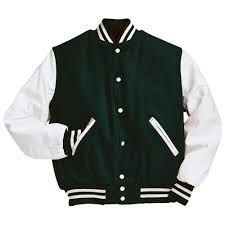 Designer Mens Letterman Jacket Forest Green And White Varsity Letterman Jacket Leather