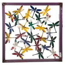 wall art dragonfly frame metal