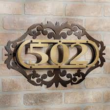 Decorative House Numbers Modern Outdoor House Numbers Zionstarnet Find The Best Images