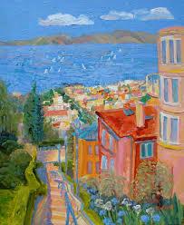kathleen elsey painting presidio steps