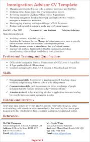 Immigration Consultant Resume Immigration Advisor Cv Template Tips And Download Cv Plaza