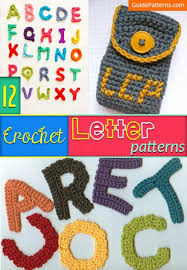 Crochet Letters Patterns Impressive 48 Crochet Letter Patterns Guide Patterns