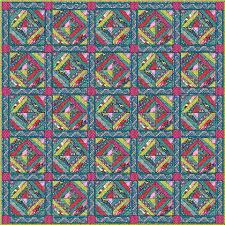 Folkloric Dream Quilt Kit featuring Splendor by Amy Butler ... & Folkloric Dream Quilt Kit featuring Splendor by Amy Butler Blending small  prints with bold florals makes Adamdwight.com