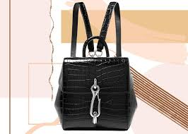 best designer backpacks for women alexander hook mini croc effect leather backpack