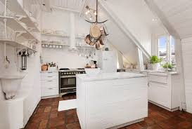 Attic Kitchen Attic Apartment With Kitchen And Shabby Chic Styles