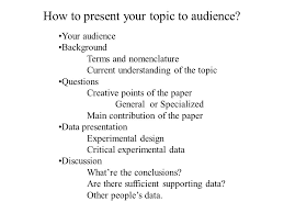 news and views viewpoints in this issue minireviews previews how to present your topic to audience