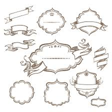 Label Design Free Hand Drawn Ribbon Label Design Vector Free Vector Graphic Download