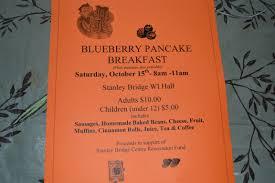 uncategorized stanley bridge centre preparing for the saturday oct 15 blueberry pancake breakfast