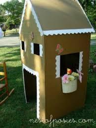 refrigerator box. recycled refrigerator box as a play house