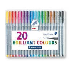 Staedtler Triplus Color Chart Staedtler Triplus Fineliner Pen Pack Of 20