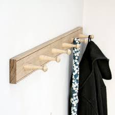 shaker style slim oak peg rail