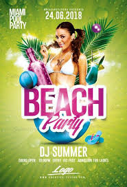 Summer Beach Party Flyer Psd Templates - Creative Flyers