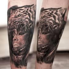 тату на руке девушки женщина в маске тигра фото рисунки эскизы